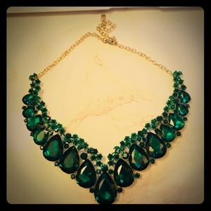 Emerald Rhinestone Necklace